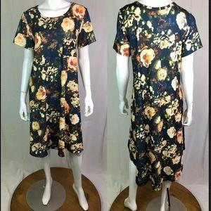 LulaRoe Floral Carly Jersey High Low Shirt Dress